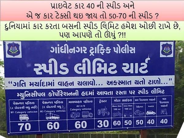 બસ અને માલ વાહક વાહનોની સ્પિડ પણ કારથી વધુ બતાવવામા આવી છે. - Divya Bhaskar