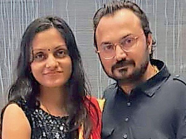 આરોપી ભાર્ગવ પત્ની શિવાની સાથે - Divya Bhaskar
