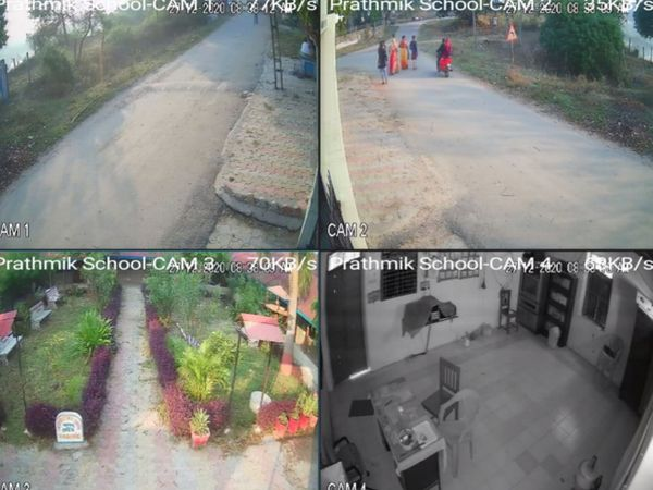 ગામની સ્કૂલ અને પંચાયત ઓફિસમાં CCTV કેમેરા લગાવાયા છે.