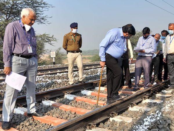 ગેરતપુર-વડોદરા અને ડભોઈ-પ્રતાપનગર સેકશનનું નિરીક્ષણ કરાયું હતું - Divya Bhaskar