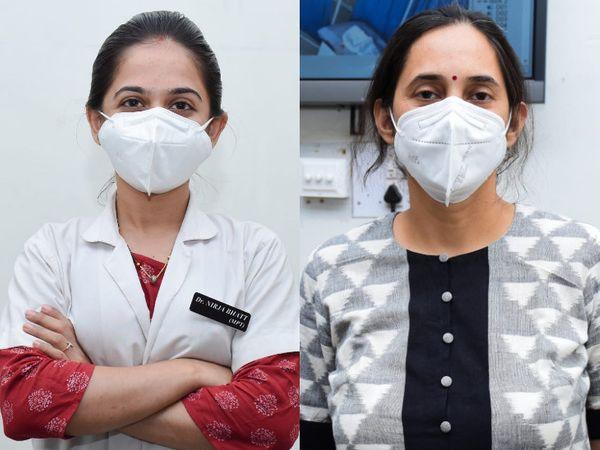 ફિઝિયોથેરાપી વિભાગના ડો.નીરજા ભટ્ટ અને મેડિસિન વિભાગના હેડ ડો. જયા પાઠક - Divya Bhaskar