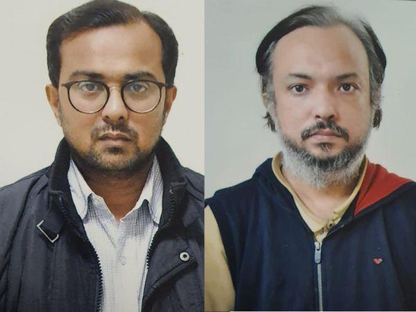 આરોપી સીએ મિતેષ ત્રિવેદી અને ભૌમિક ગાંધીની ફાઈલ તસવીર. - Divya Bhaskar