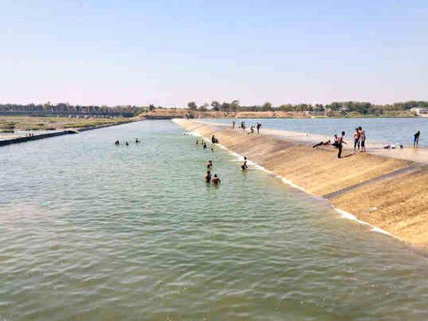 વડોદરા પાસે મહીસાગર નદી પરનો સિંધરોટ ચેકડેમ(ફાઇલ તસવીર) - Divya Bhaskar