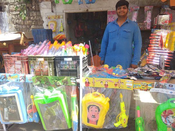 સુરેન્દ્રનગરમાં પીચકારી અને કલરના વેચાણમાં મંદીનો માહોલ. - Divya Bhaskar
