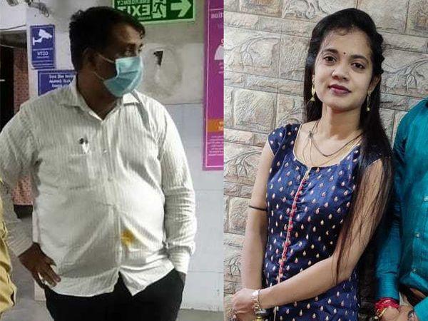મૃતક યુવતી અને કારથી ઉડાવનાર અતુલ બેકરીના માલિક અતુલ વેકરિયા. - Divya Bhaskar