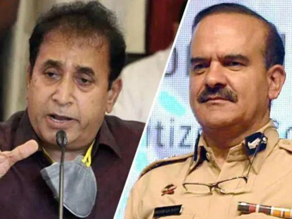 મહારાષ્ટ્ર સરકારે પરમબીર સિંહ(જમણી તરફ)ને મુંબઈ પોલીસ કમિશનરના પદ પરથી હટાવીને હોમગાર્ડ ડિપાર્ટમેન્ટમાં DG બનાવ્યા છે. - Divya Bhaskar