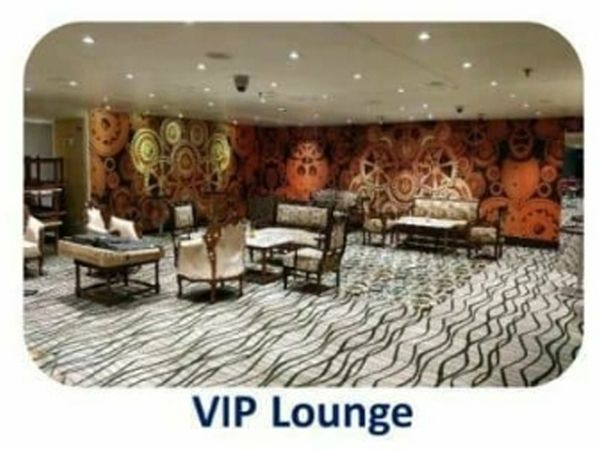 VIP lounge.