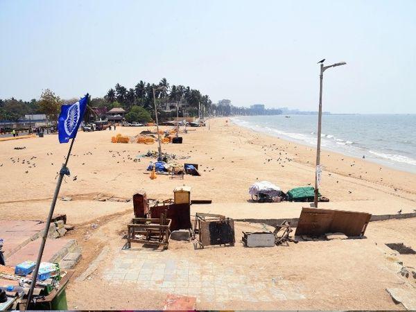 कोरोना के बढ़ते खतरे के कारण, मुंबई के सभी समुद्र तटों पर लोगों की आवाजाही पर प्रतिबंध लगा दिया गया है।