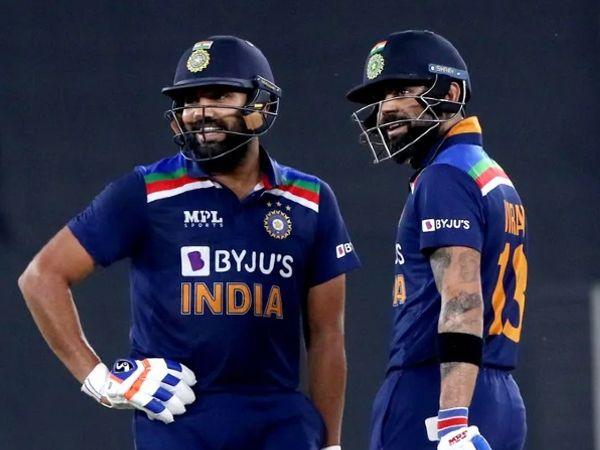 રોહિત શર્મા અને વિરાટ કોહલીએ ઇંગ્લેન્ડ સામેની અંતિમ T20માં ભારતીય ઇનિંગ્સની શરૂઆત કરી હતી. - Divya Bhaskar
