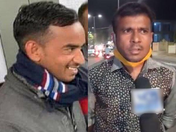 આરોપી અનાર્મ હેડ કોન્સ્ટેબલ જગદીશ ગુડલીયા અને બુટલેગર રાકેશ રાજપૂતની ફાઈલ તસવીર - Divya Bhaskar
