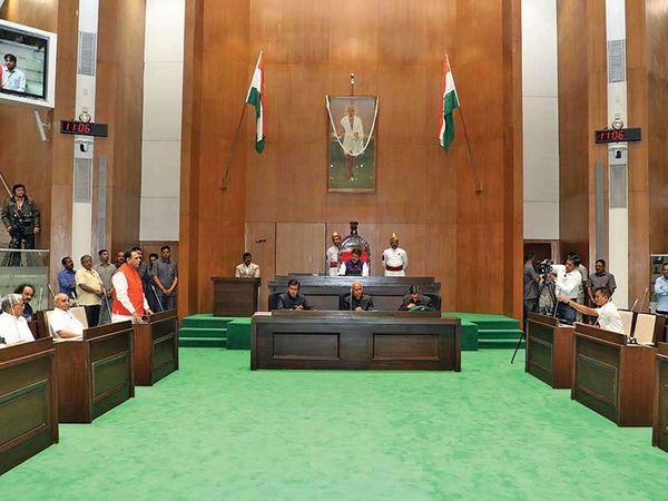 ગુજરાત વિધાનસભા ગૃહની ફાઈલ તસવીર. - Divya Bhaskar