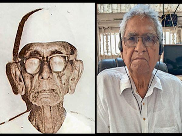 મીઠુ છુપાવનાર છીબુભાઈ પટેલ,        યાદો તાજી કરતા હીરાભાઈ વાલા - Divya Bhaskar