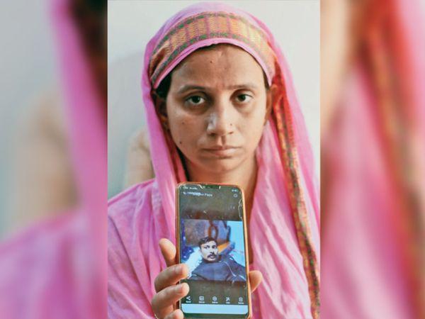 CRPF જવાનની પત્નીની તસવીર - Divya Bhaskar