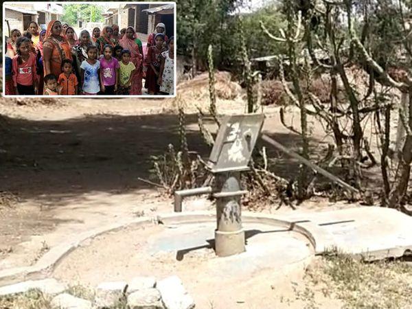 નર્મદાનું પાણી આપવાની ગ્રામજનો દ્વારા માંગ કરાઇ. - Divya Bhaskar
