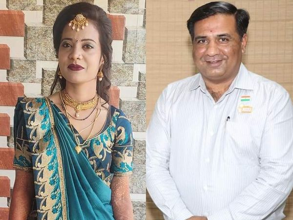 મૃતક મહિલા અને આરોપી અતુલ વેકરિયાની ફાઈલ તસવીર. - Divya Bhaskar