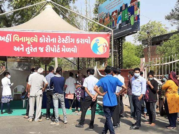 અમદાવાદ શહેરમાં કોરોનાના કેસ વધતાં એગ્રેસિવ ટેસ્ટિંગ કરાઈ રહ્યું છે - Divya Bhaskar