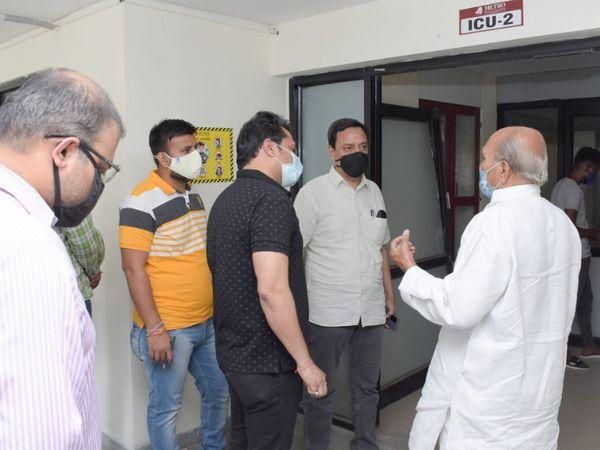 નર્મદા વિકાસ રાજ્ય મંત્રી યોગેશભાઈ પટેલે મટ્રો હોસ્પિટલની મુલાકાત લીધી હતી - Divya Bhaskar