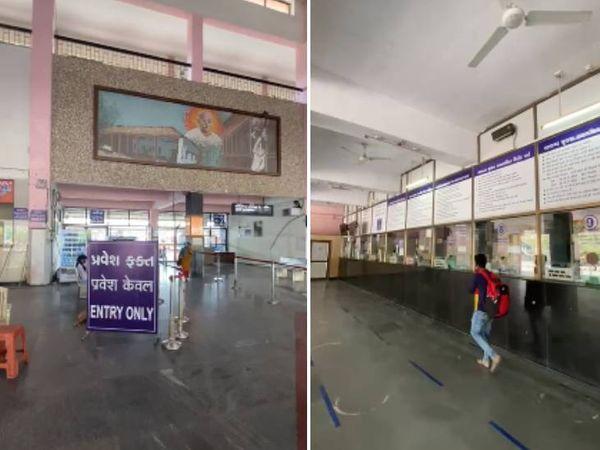 કાલુપુર રેલવે સ્ટેશન પર મુસાફરોની સંખ્યામાં મોટો તફાવત જોવા મળ્યો