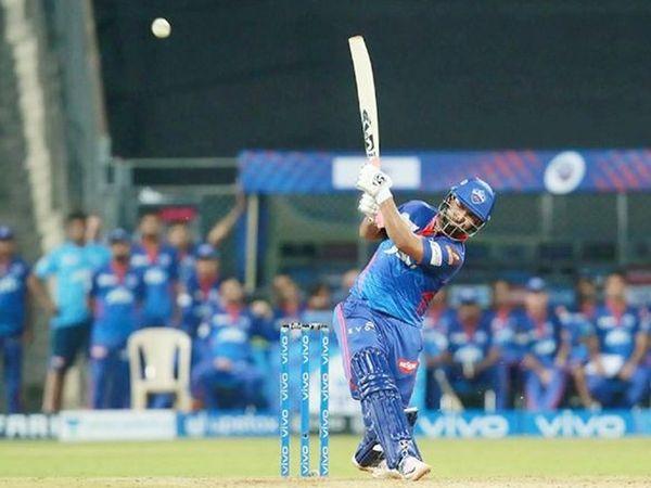 पंत ने 12 गेंदों में नाबाद 15 रन बनाकर दिल्ली का पहला मैच जीता।