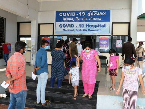 કોવિડ હોસ્પીટલની તસ્વીર - Divya Bhaskar