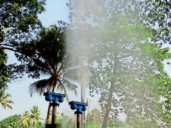 વાલોડ ખાતે નીલકંઠ સોસાયટી નજીક પાણી પુરવઠાની લાઇનમાંથી પાણી લીકેજ થતાં પાણીનો વેડફાટ. - Divya Bhaskar
