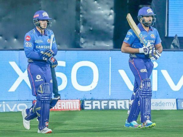मुंबई ने टॉस जीता और पहले बल्लेबाजी करने के लिए निर्वाचित हुआ।  सलामी बल्लेबाज क्विंटन डिकॉक और कप्तान रोहित शर्मा ने 39 गेंदों में 55 रनों की ओपनिंग साझेदारी की।