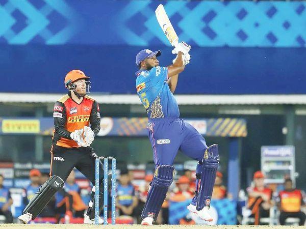 आखिरी ओवर में पोलार्ड ने 2 छक्के लगाए।  इस जीत में भी अंतर है।  टीम ने 13 रन से जीत दर्ज की।