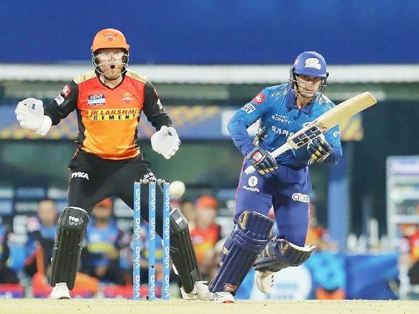 क्विंटन डिकॉक ने 39 गेंदों पर 40 रन बनाए।