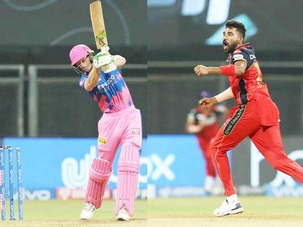 RCB के सिराज ने जोस बटलर को बोल्ड किया।  सिराज इस मैच में 3 विकेट तेजी से थे।