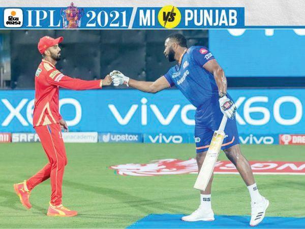 इस तरह लोकेश राहुल और पोलार्ड मैच से पहले मिले।