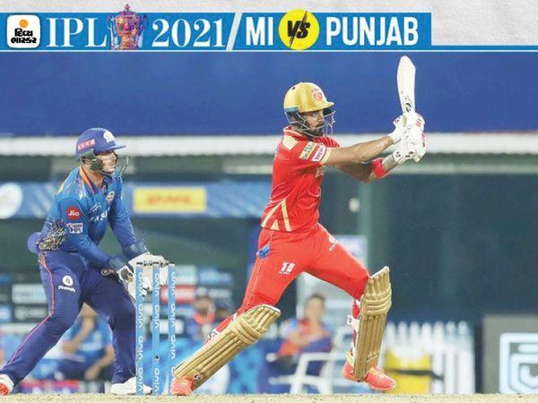 लोकेश राहुल ने 52 गेंदों में 60 रनों की नाबाद पारी खेली और मैच पंजाब ने जीता।