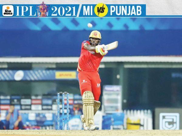 नंबर 3 पर बल्लेबाजी करते हुए क्रिस गेल ने 35 गेंदों पर नाबाद 43 रन बनाए।