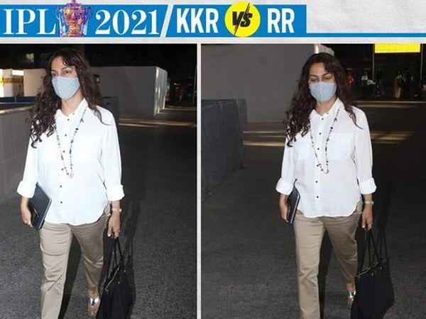 कोलकाता की सह-मालिक जूही चावला टीम की हार से दुखी थीं।