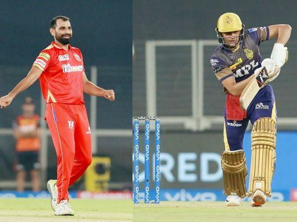 कोलकाता के सलामी बल्लेबाज शुभमन गिल सिर्फ 9 रन बना सके।  इसे मोहम्मद शमी ने LBW किया था।