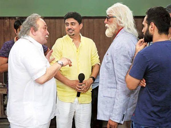 निर्देशक उमेश शुक्ला के साथ अमिताभ और ऋषि कपूर