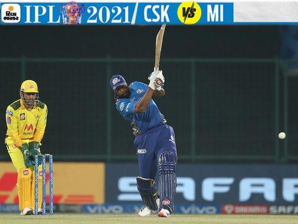 પોલાર્ડે 17 બોલમાં IPLમાં પોતાની કારકિર્દીની 16મી ફિફ્ટી મારી હતી