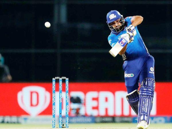 219 रन के लक्ष्य का पीछा करते हुए, मुंबई के कप्तान और सलामी बल्लेबाज रोहित शर्मा ने 24 गेंदों में 35 रन बनाए।