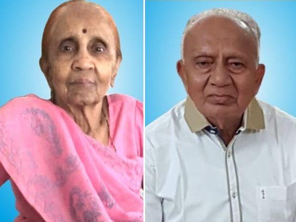 માતા કુસુમબેન અને પિતા અનંતરાય ગાંધીની ફાઈલ તસવીર - Divya Bhaskar