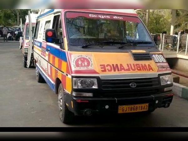 આણંદ જિલ્લાની દરેક હોસ્પિટલ બહાર 108 અેમ્બ્યુલન્સને વેઈટીંગમાં ઉભો રહેવાનો વારો - Divya Bhaskar