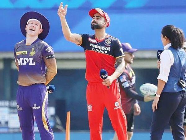 विराट कोहली की कप्तानी में बैंगलोर और ओवेन मॉर्गन के बीच मैच सोमवार को निर्धारित था, जिसे कोरोना के कारण स्थगित कर दिया गया था।
