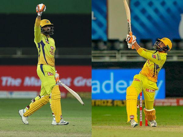 आरसीबी के खिलाफ रविंद्र जडेजा ने एक ओवर में 36 रन बनाए।