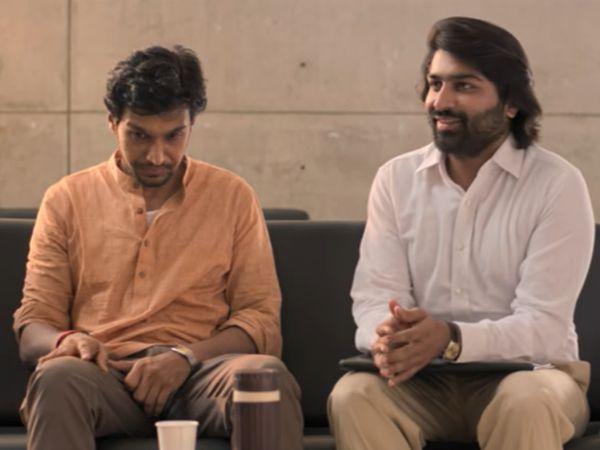 गुजराती फिल्म 'वेंटिलेटर' के एक दृश्य में प्रतीक और मल्हार