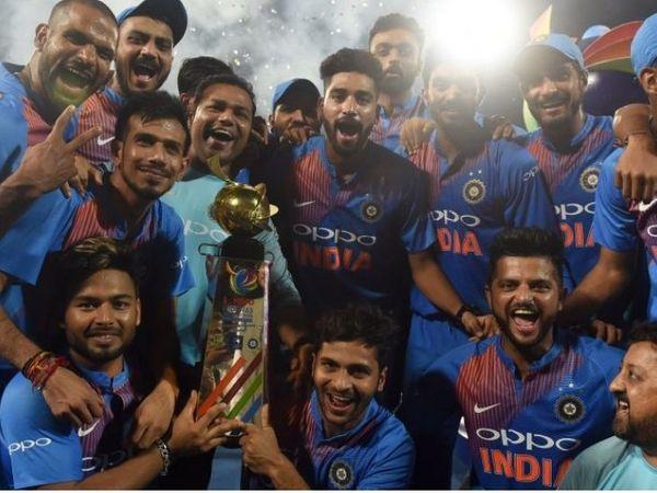 भारत ने रोहित की कप्तानी में 2018 में निधास ट्रॉफी जीती।