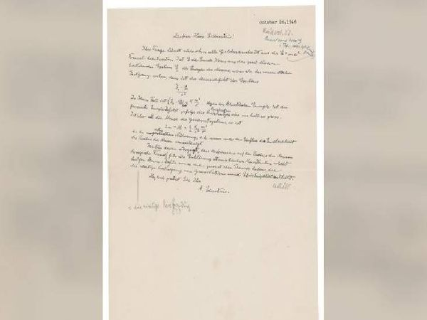 આઇન્સ્ટાઇને જાતે લખેલો પત્ર