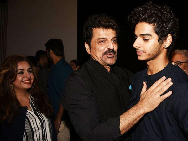 बेटे ईशान खट्टर के साथ राजेश खट्टर