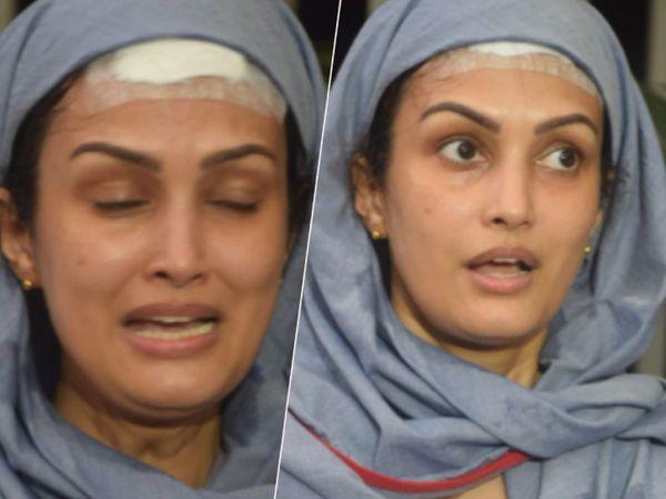 प्रेस कांफ्रेंस में निशा ने अपने पति पर लगाए गंभीर आरोप