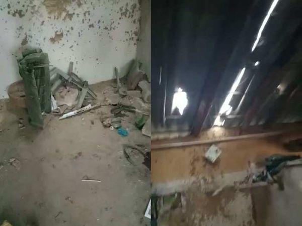 બ્લાસ્ટ થતાં ઘરની દિવાલો અને છાપરાને પણ અસર થઈ