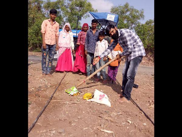 ઝાલાવાડમાં ખેડૂતોએવૈશાખ વદ સાતમે મૂર્હુત સાચાવ્યું હતું. - Divya Bhaskar