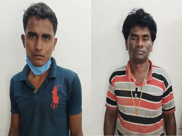 પોલીસે રેડ દરમિયાન બાલકૃષ્ણ મદ્રાસી અને મનીષ જાખેલીયાની ધરપકડ કરી