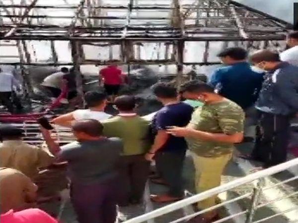 જમ્મુના વૈષ્ણો દેવી મંદિરમાં લાગેલી આગ પર કાબૂ મેળવાયો છે